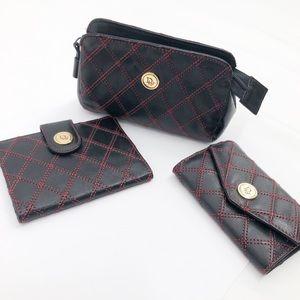 Christian Dior 3 Peice Card/Key Holder & Pouch Set